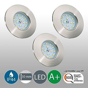 LED Badeinbaustrahler Ultra Flach Inkl. 3 X 5W LED Modul 230V IP44  Badezimmer Geeignet LED