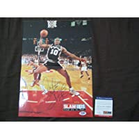 "Dennis Rodman Spurs Signed AUTOGRAPH Magazine Poster 11"" x 15"" - PSA/DNA Certified - Autographed NBA Magazines photo"