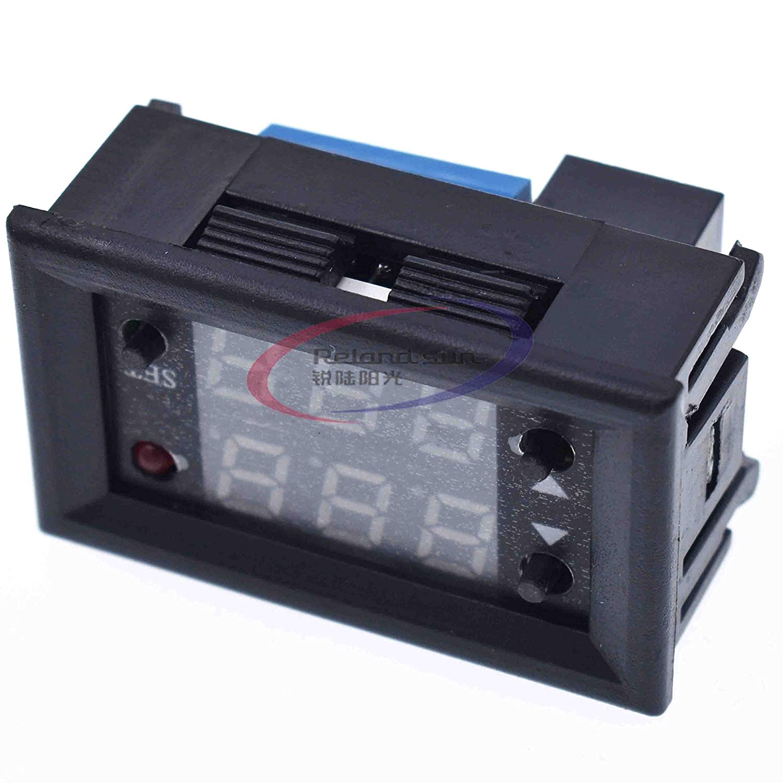 DC 12 V Dual Tiempo de pantalla m/ódulo de rel/é de retardo de Tiempo Mini LED Digital rel/é temporizador Tiempo demora Tiempo de ciclo interruptor de Control de casa Negro