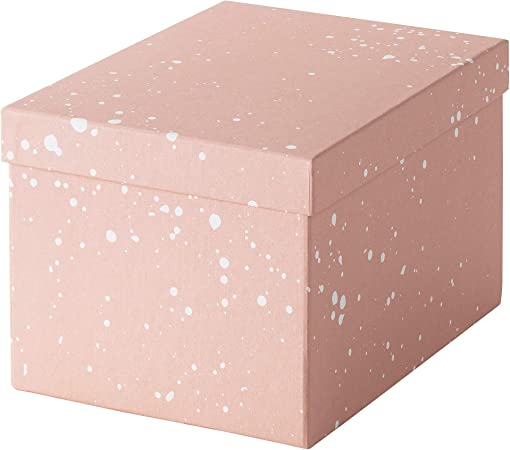 Ikea Tjena 004.038.17 - Caja de almacenaje con Tapa, Color Rosa: Amazon.es: Hogar