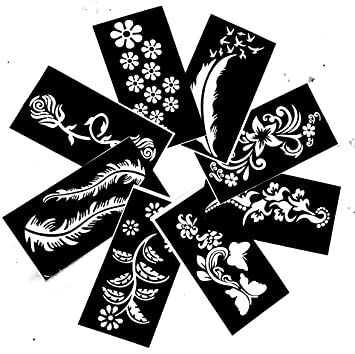 Amazon Com Temporary Tattoo Stencils Templates Stickers Waterproof