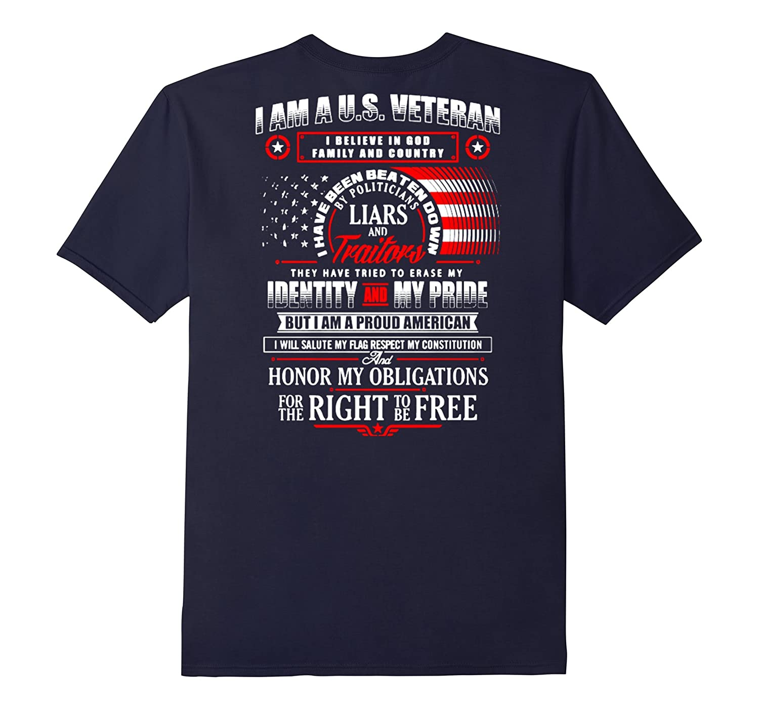 I Am Usveteran I Believe In God Family And Country T Shirt-RT