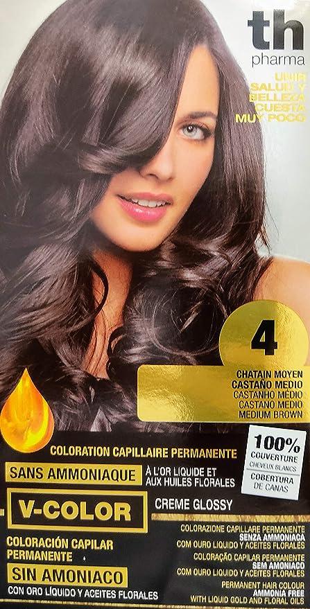 TH PHARMA TINTE Nº 4 CASTAÑO MEDIO: Amazon.es: Belleza