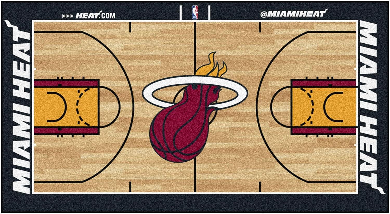 FANMATS NBA Miami Heat Nylon Face NBA Court Runner-Small,Team Color,24x44