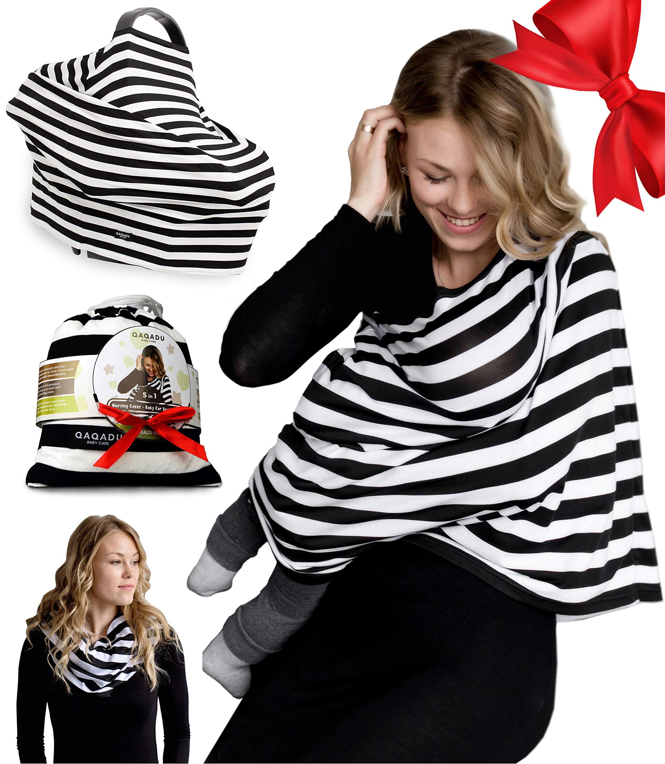 d41a75788fe Amazon.com  Nursing Breastfeeding Cover Scarf - Baby Car Seat Canopy -  Nursing Pads