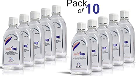 Buy Alcorub Hand Sanitizer 100 Ml Pack Of 10 Online At Low