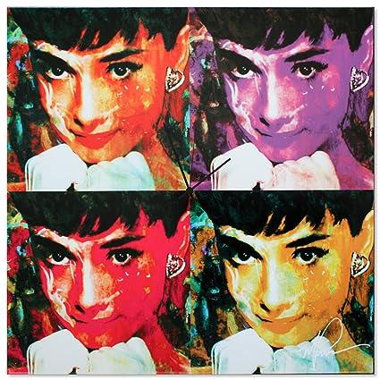 Amazon.com: Pop Art Clock \'Audrey Hepburn Clock\' Pop Culture Decor ...