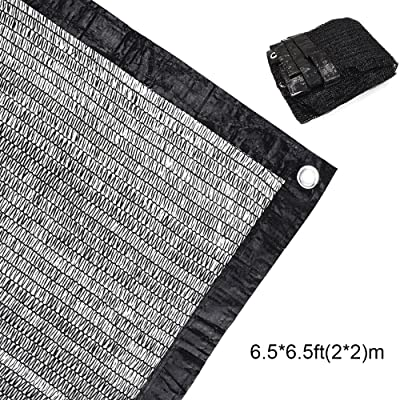 70% Sunblock Shade Cloth Net Black UV Resistant, Garden Shade Mesh Tarp for Plant Cover, Greenhouse, Barn. Top Shade Cloth Quality Panel for Flowers, Plants, Patio Lawn (1 PACK 6.5×6.5ft(2×2m)) : Garden & Outdoor