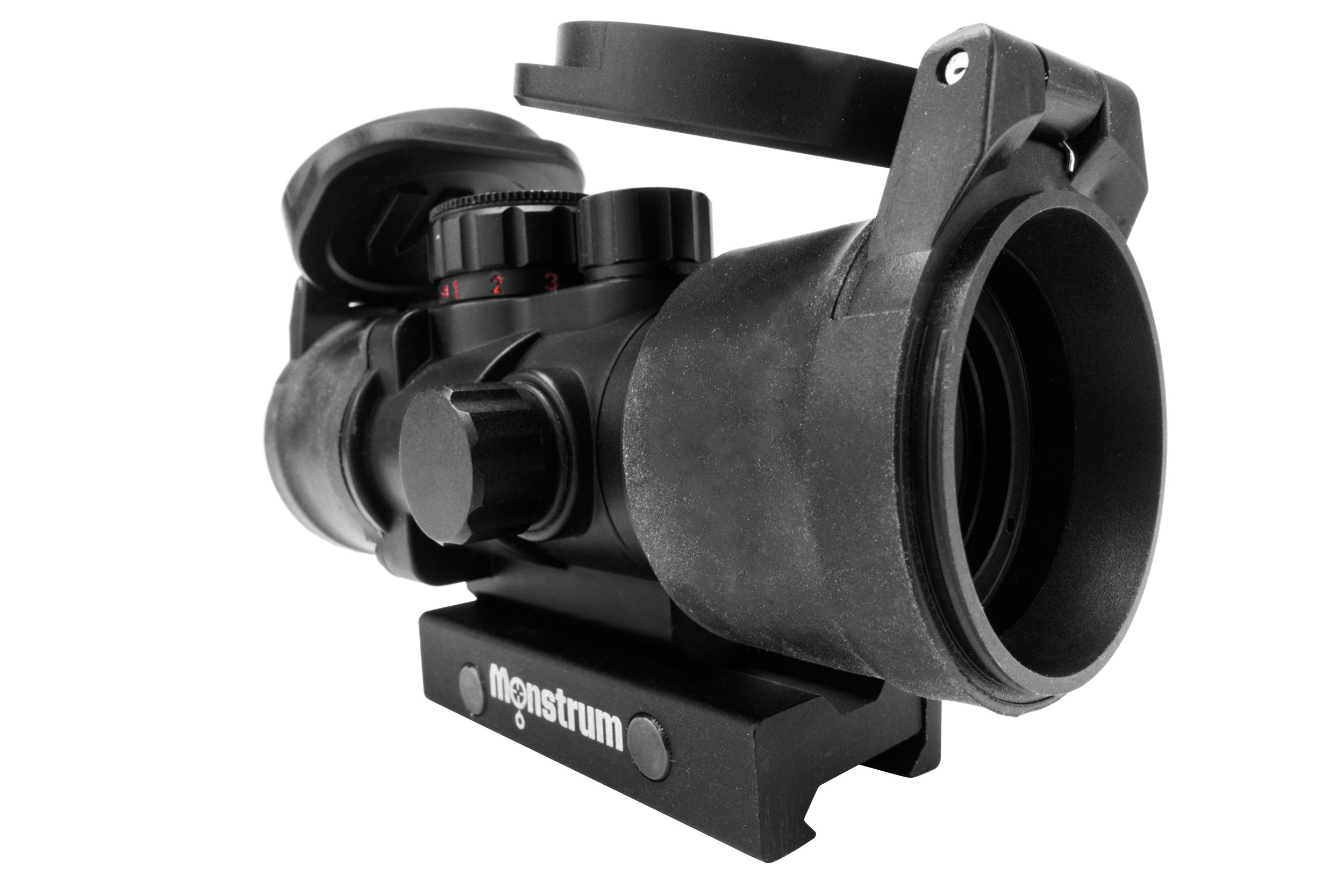 Monstrum Tactical S330P Ultra-Compact 3x Prism Scope (Black with Flip-Up Lens Covers) by Monstrum Tactical