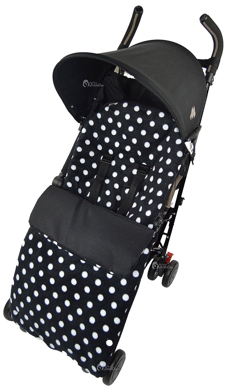 Forro polar saco/Cosy Toes Compatible con Maclaren Techno XT XLR Quest Volo, diseño de lunares, color negro For-Your-Little-One