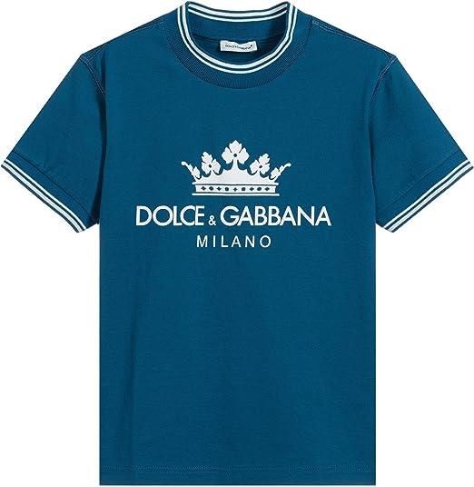 Dolce & Gabbana Camiseta con Logotipo Kids Crown: Amazon.es: Ropa y accesorios