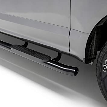 Lund 23810600 Black Steel 5 Oval Curved Nerf Bars for 2015-2018 Chevrolet Colorado//GMC Canyon Crew Cab
