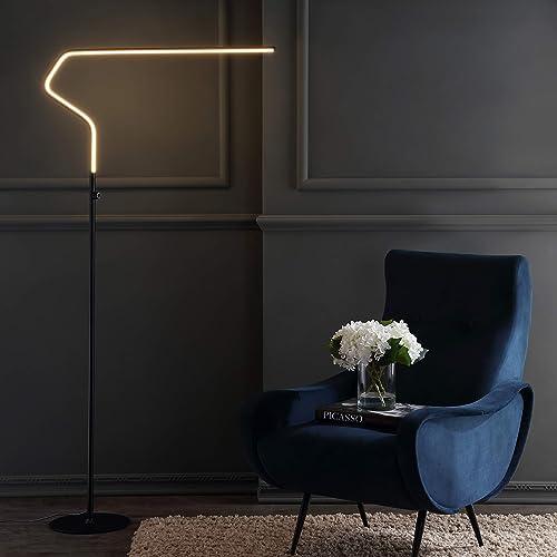 JONATHAN Y JYL7020B Julian 65.25″ Integrated LED Metal Floor Lamp Minimalistic,Modern,Contemporary