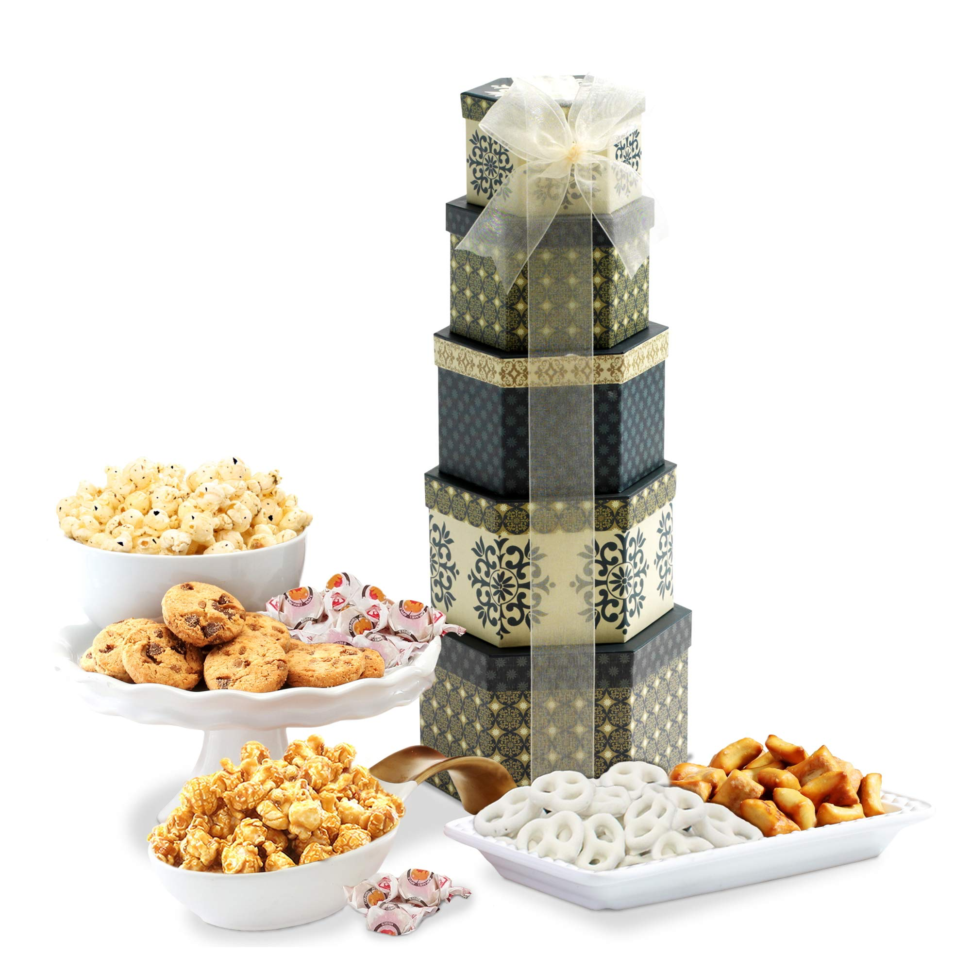Token of Appreciation Gift Tower The Perfect Gift Basket for Birthdays, Sympathy or Any Occasion by Broadway Basketeers