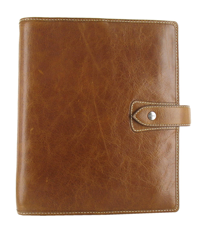 Filofax Malden Leather A5 Ochre Organizer Agenda Diary 2019 + 2020 Calendar with DiLoro Jot Pad refill 025847