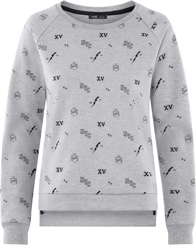 oodji Ultra Womens Printed Cotton Sweatshirt