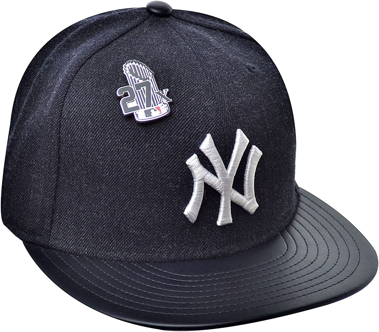 NEW ERA NEW YORK YANKEES FITTED HATCAP 59FIFTY NAVY GREY AMERICAN MEN SZ 7-8