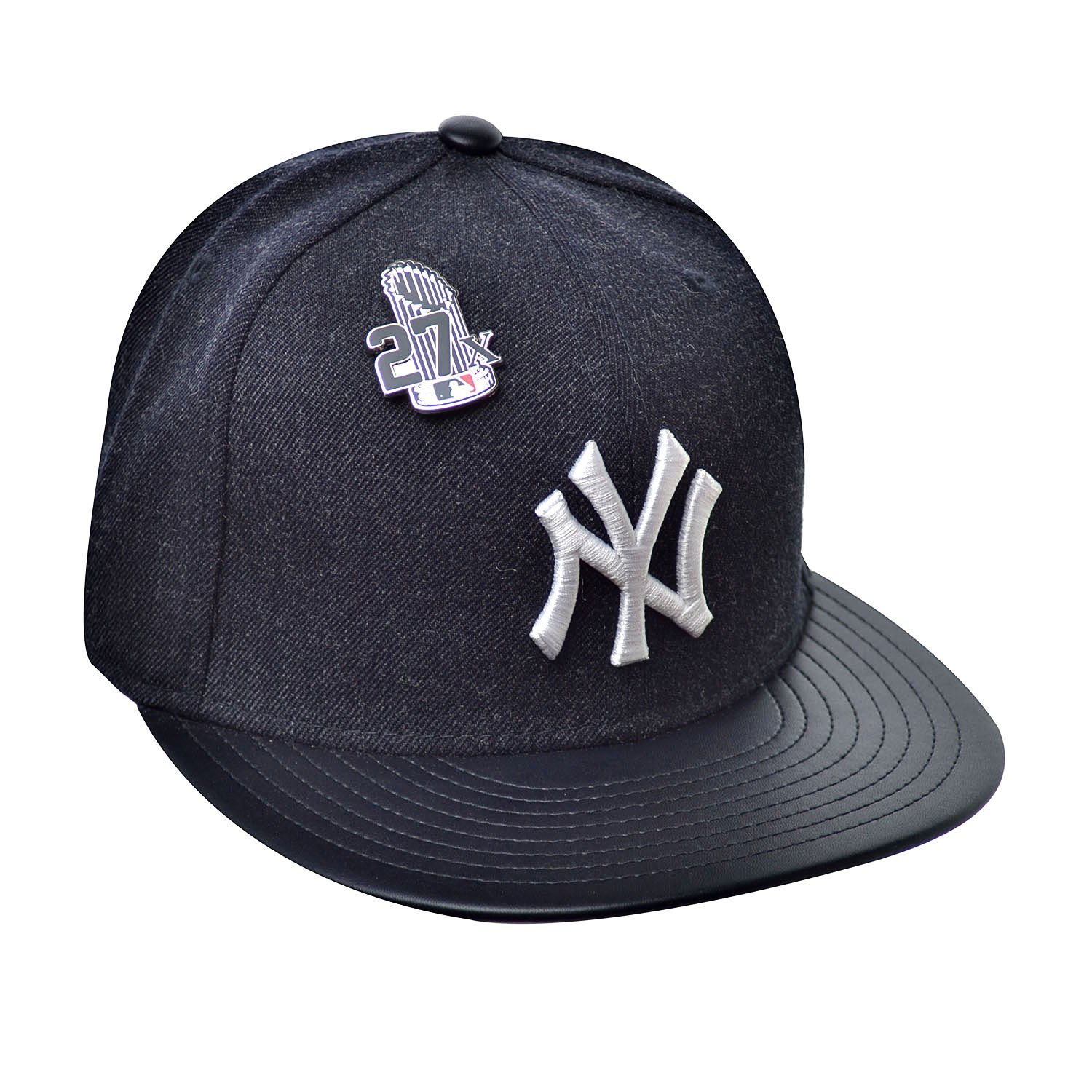 a6a5d06d6cd New Era 59Fifty Hat New York Yankees Pin 27X Trophy MLB Navy Blue Fitted Cap  at Amazon Men s Clothing store