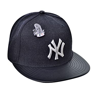 64c09085628d7 New Era 59Fifty Hat New York Yankees Pin 27X Trophy MLB Navy Blue Fitted Cap  (