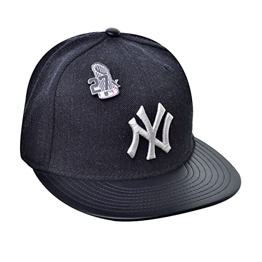 0a998788ba0 New Era 59Fifty Hat New York Yankees Pin 27X Trophy MLB Navy Blue Fitted Cap  (