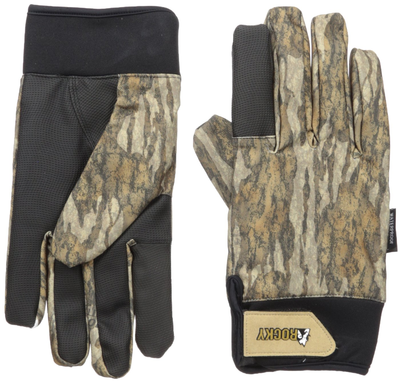 Rocky Men's Water Fowler 40G Insulated Waterproof Gloves, Mossy Oak Bottomland Camouflage, Large