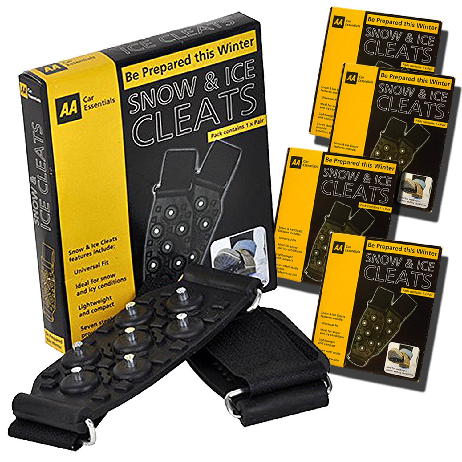Guaranteed4Less Snow Ice Grips Grippers Winter Over The Shoes Boots Universal Metal Spikes Studs