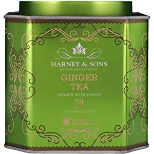Harney & Sons Tea Ginger Tea, Ginger with Lemon, 30 Sachets