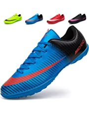 87f3f9617 Ikeyo Breathable Football Shoes Men Indoor Outdoor Turf Trainers Teens  Wear-Resistence Soccer Shoes Non