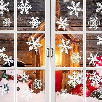 Yhmall 90pcs Noël Stickers Autocollants Décoration Pour Fenêtre
