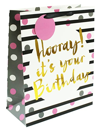 Bolso de regalo grande para cumpleaños de oro para mujer con ...