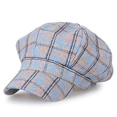 ililily Howels 8-Panel Newsboy Cabbie Cap Wool Blended Ivy Flat Hunting Hat 240d7bc29034