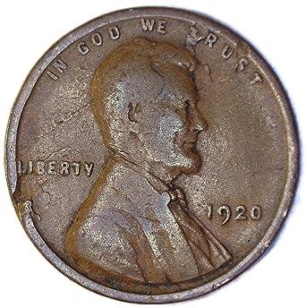 1920 P Wheat Cent Lamination Error Penny Good at Amazon's