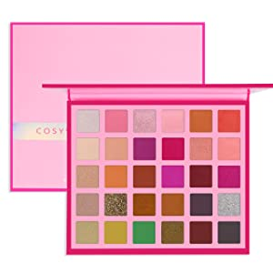 Cosyway Eyeshadow Palette, 30 Colors Eye Make Up Eyeshadow Palettes Matte Shimmer Glitter High Pigmented Natural Eye Shadow Kit - Waterproof and Long Lasting