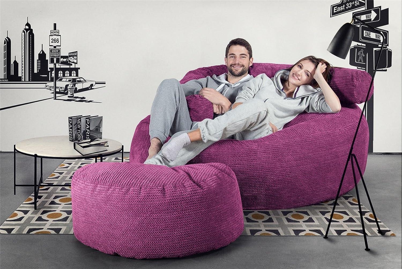 d352a4df1e9c Lounge Pug® - Pom Pom - GIANT Bean Bag SOFA - MEGA MAMMOTH - Beanbag -  PINK  Amazon.co.uk  Kitchen   Home