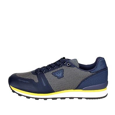 Armani jeans 935026 Petite Sneakers Homme Bleu Bleu - Chaussures Baskets basses Homme