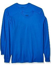 6490e1f4465c GILDAN Mens DryBlend Adult Long Sleeve T-Shirt, 2-Pack Shirt