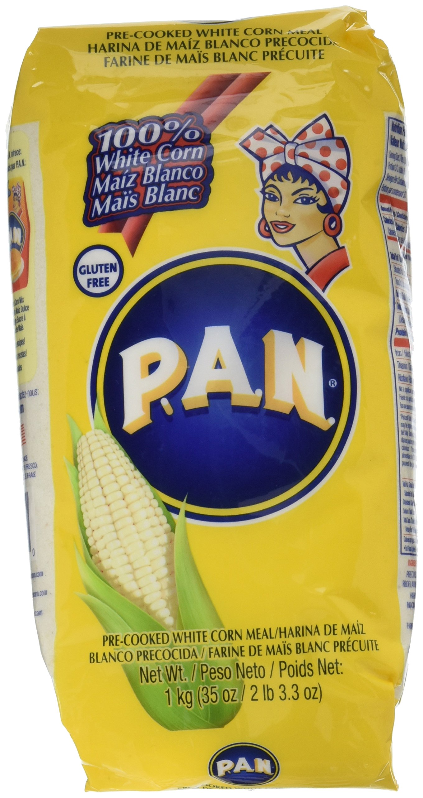 Amazon.com : Harina PAN 3 PACK Yellow Corn Meal Flour 3 x