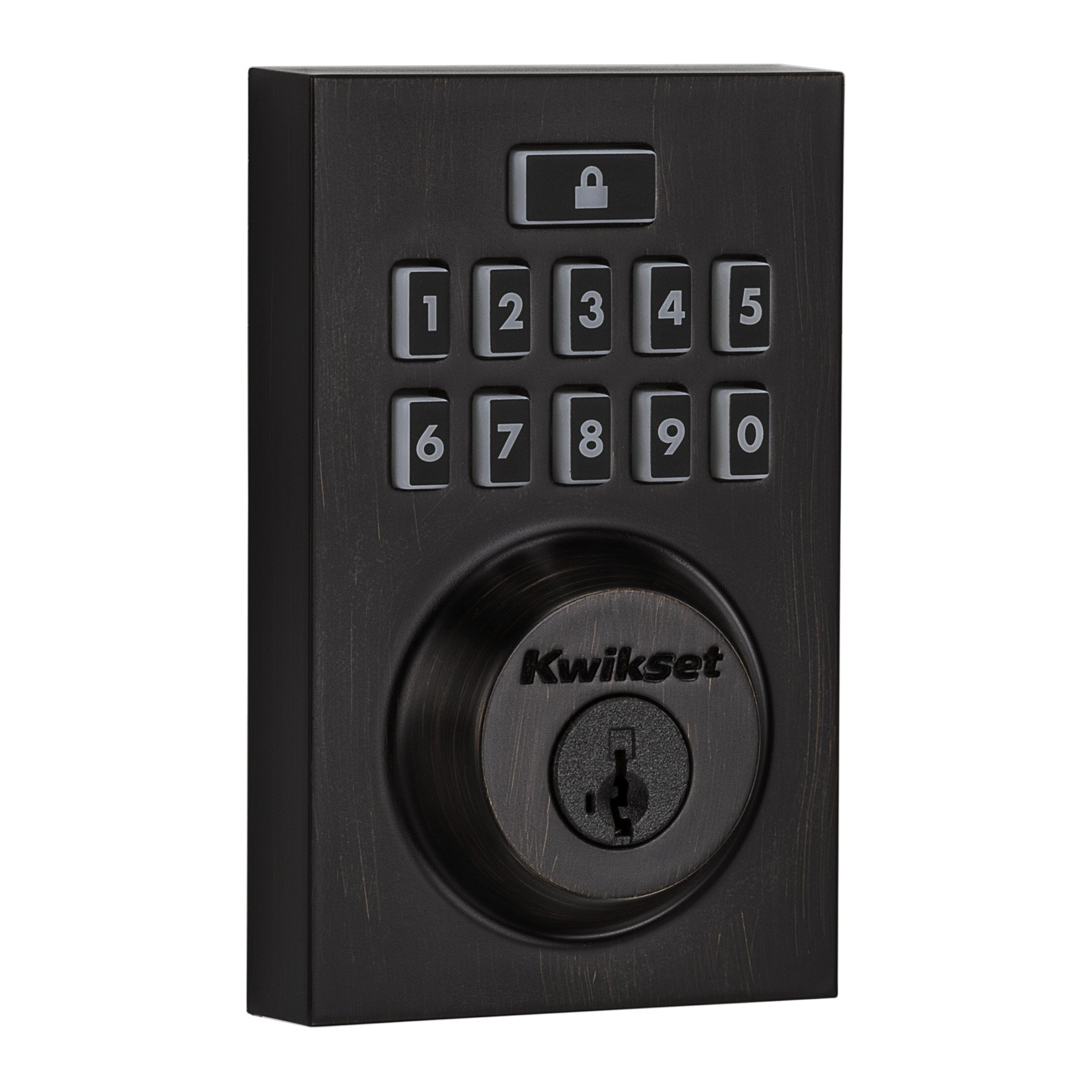 Kwikset Smartcode 913 Contemporary Electronic Deadbolt Featuring Smartkey In Venetian Bronze by Kwikset