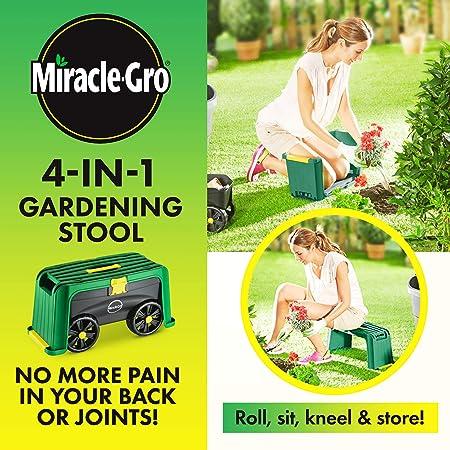 Amazon.com: Miracle-Gro 4-en-1 Jardín Taburete - Patinete ...