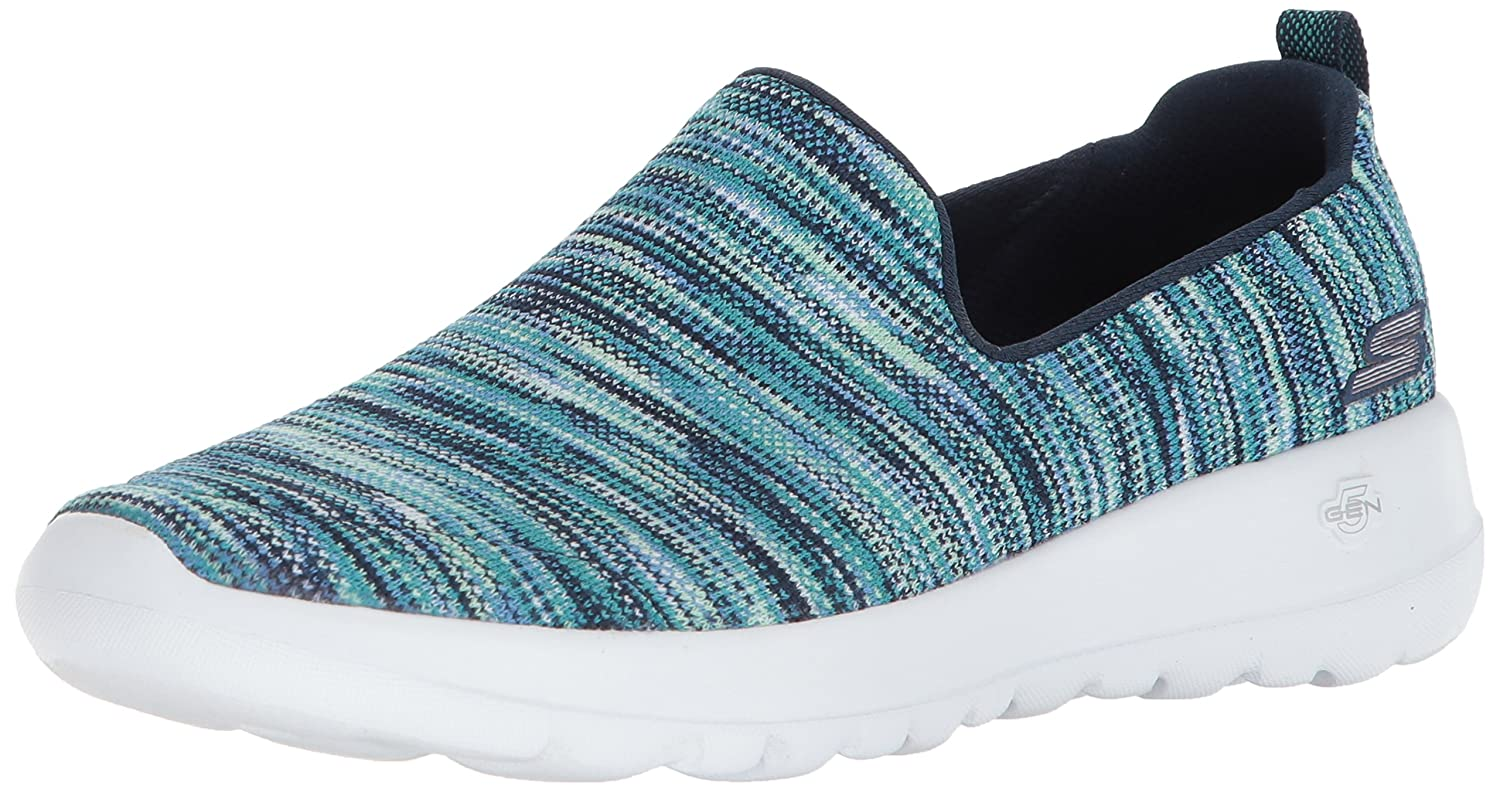 Skechers Women's Go Walk Joy-15615 Sneaker B07535XYYK 7.5 B(M) US|Navy/Multi