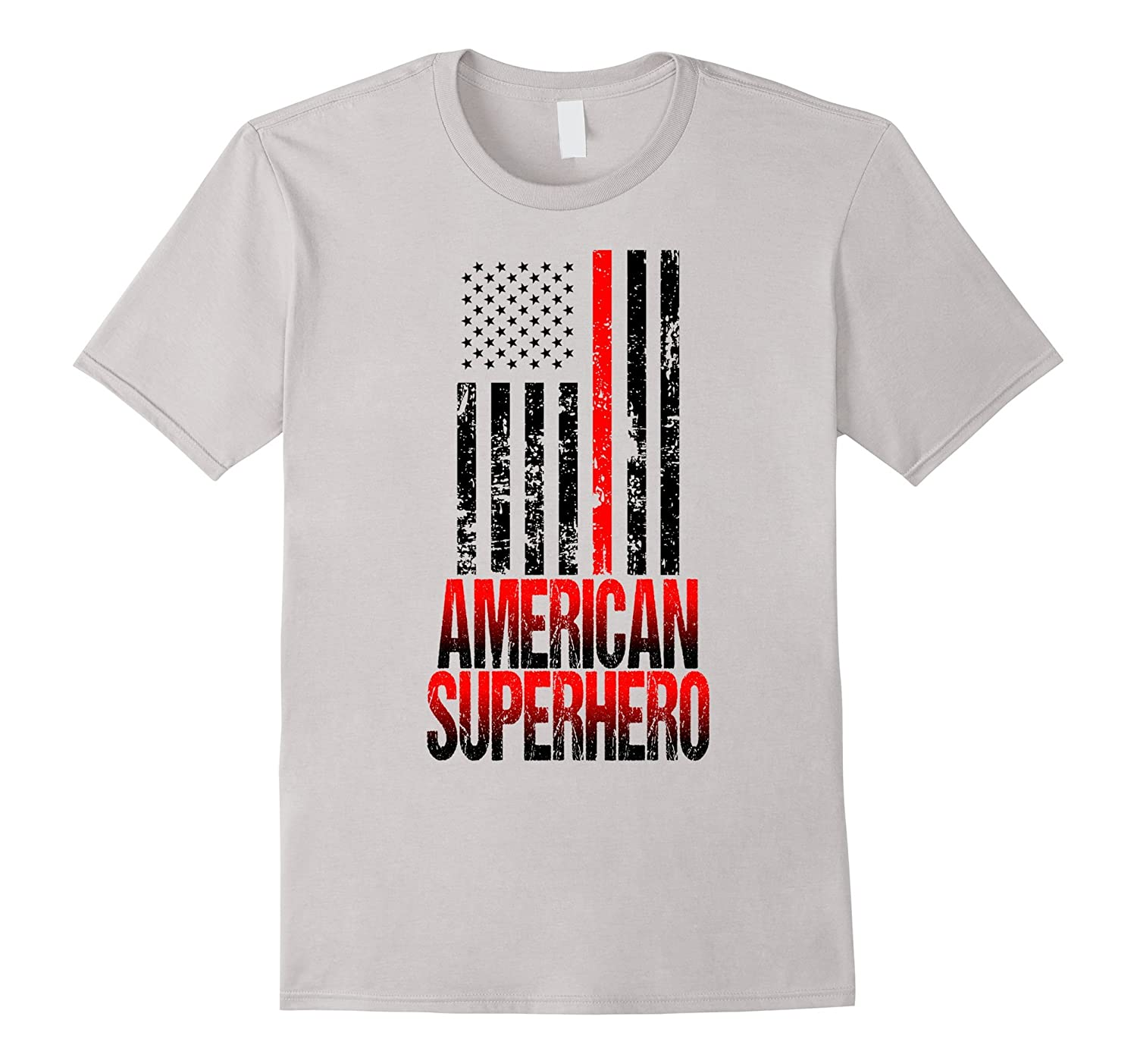 4th of July Firefighter T-shirt American Superhero-Vaci