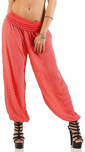 malito Pantalón Bombacho con Punto Pantalones Anchos 7190 Mujer Talla Única