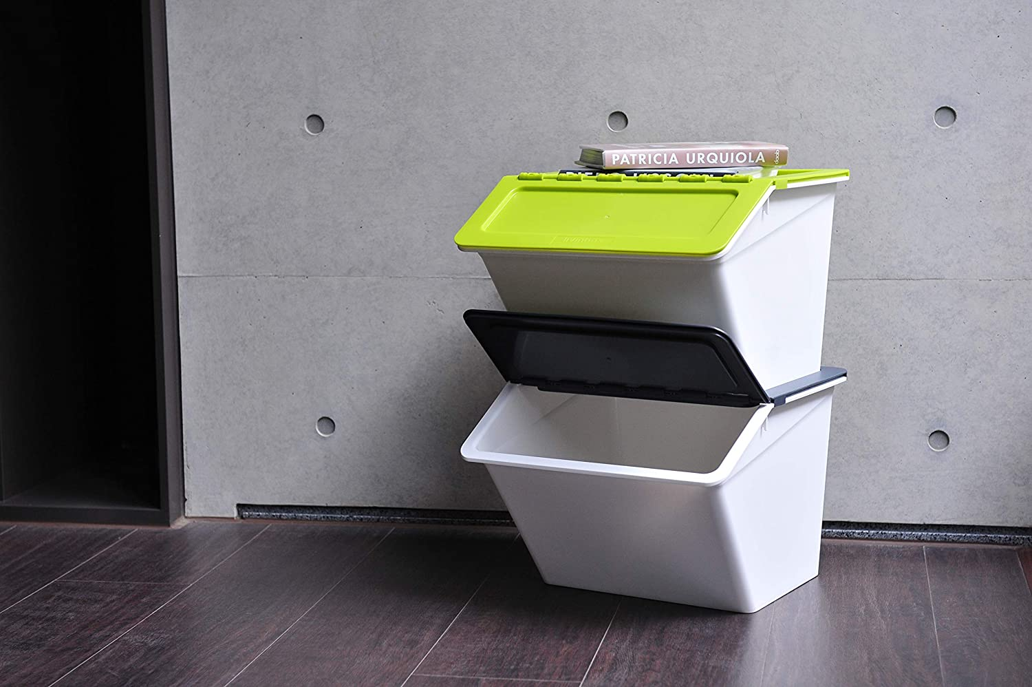 PP Pelican Stackable Bin Organiser Cubes Containers for Toys Tools with Hinged Lids,MHB-2341-Gray livinbox 13L Storage Plastic Box with Lid