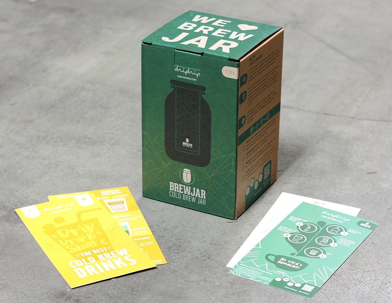DRIPSTER Cold Brew Dripper Cold Drip Coffee Maker f/ür kaltgebr/ühten Kaffee und Tee 4 Tassen // 600ml
