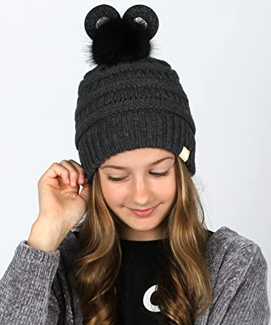 Ajiusmm Rick N Morty Cute Soft Warm Knitted Hat for Toddlers Boys Girls Skull Beanies Black