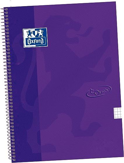 Oxford Touch - Pack de 5 cuadernos espiral, tapa extradura, color lila: Amazon.es: Oficina y papelería