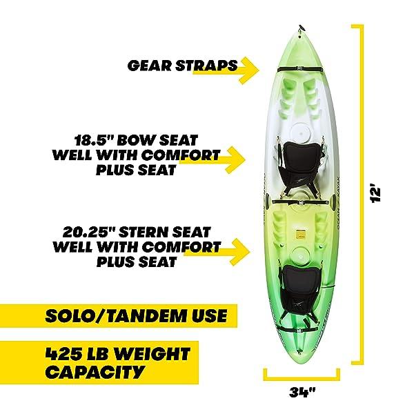 Ocean Kayak Malibu Two Tandem Sit-On-Top Recreational Kayak Review