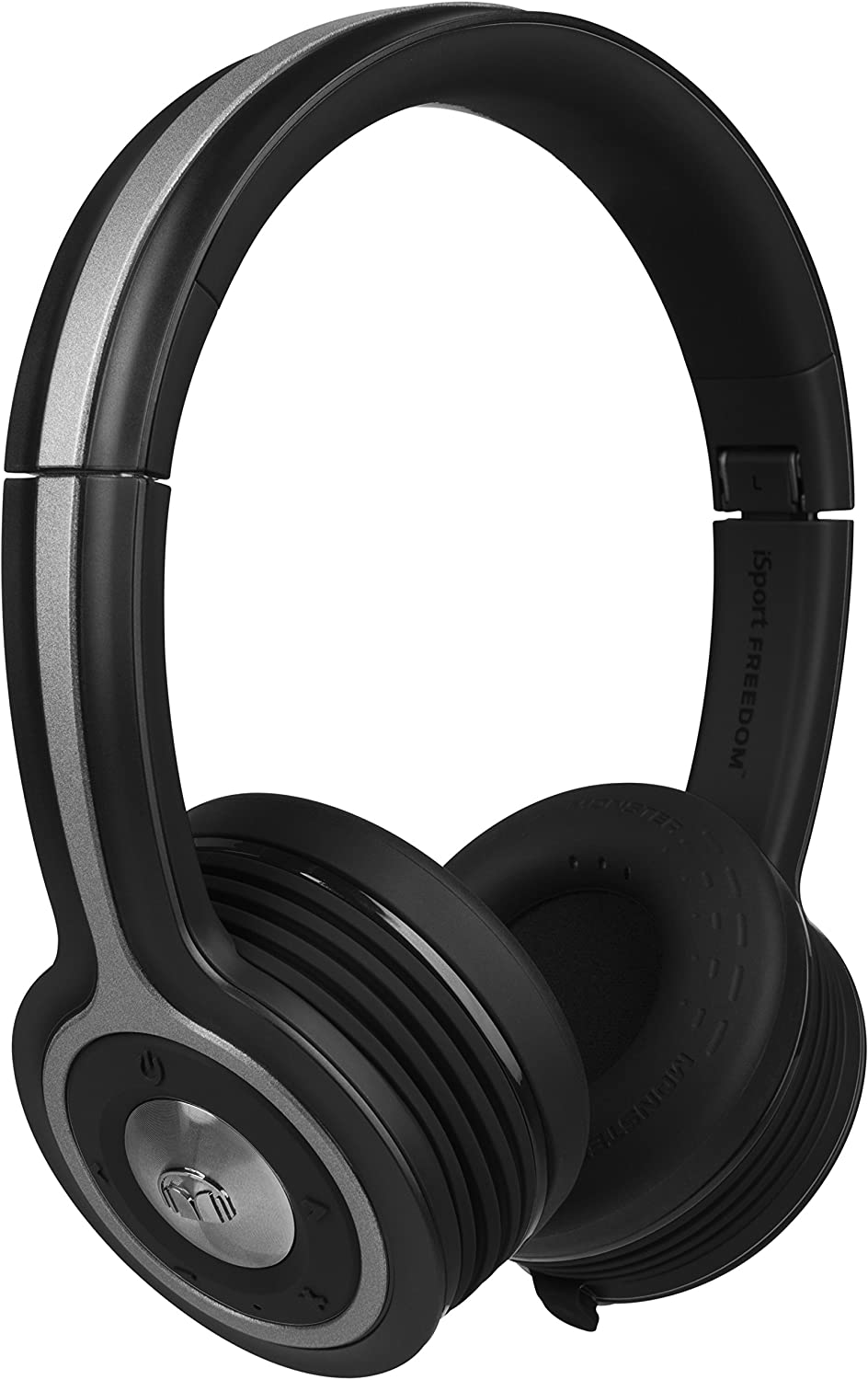 Monster iSport Freedom Bluetooth Wireless On-Ear Headphones - Black, High definition On Ear Bluetooth Headphones