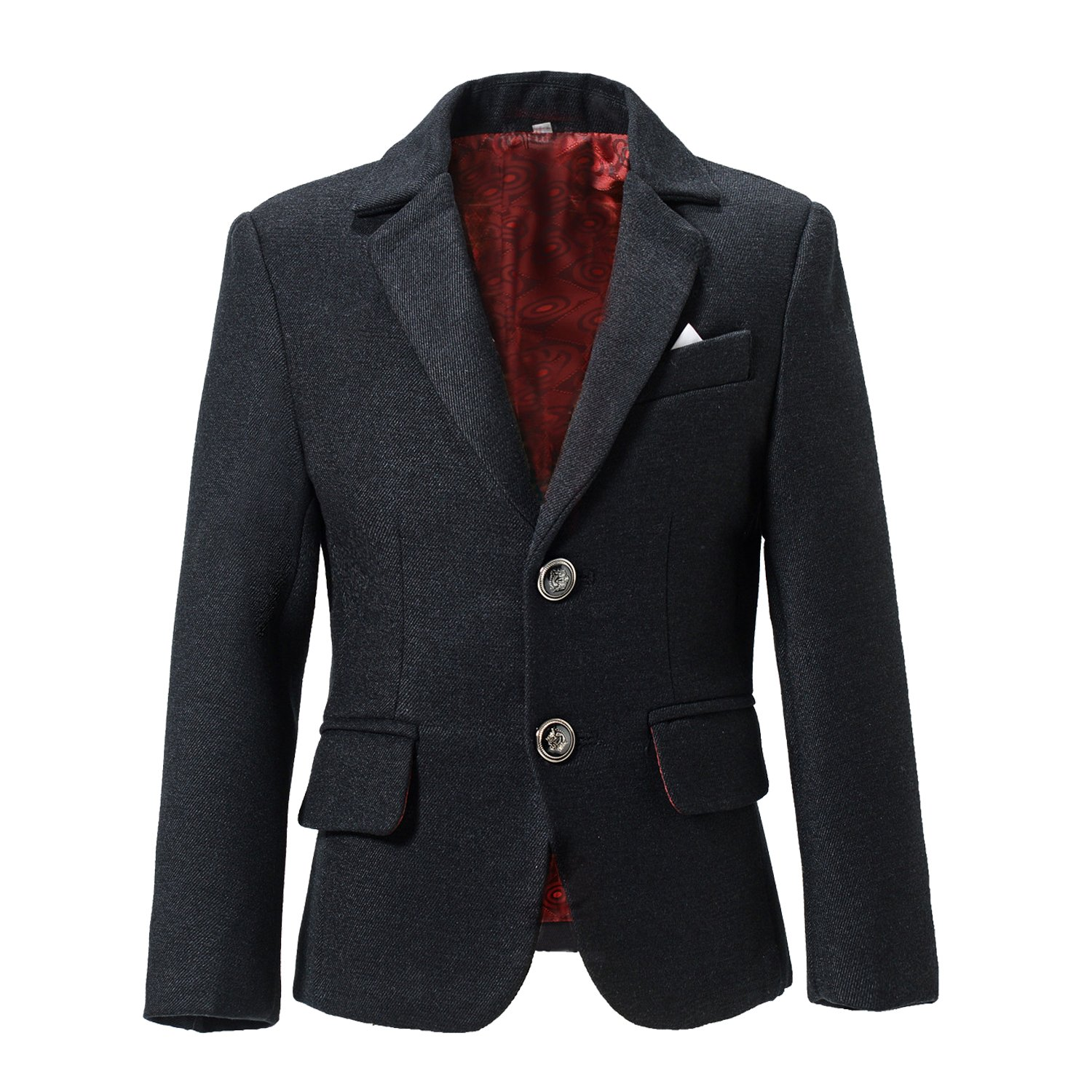 Yuanlu Woolen Look Young Boys Outfit Jacket Kids Dress Wear Blazer YLuBlazer04