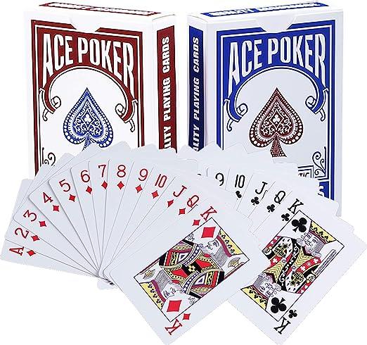 BETOY póker Naipes 2 Paquete Cartas de Poker Impermeables Cartas de póker de plástico Cartas magicas clásicas para niños y Adultos Mesa Juegos de Cartas(54 Piezas/Cubierta): Amazon.es: Juguetes y juegos
